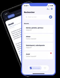 application mobile dictionnaire français